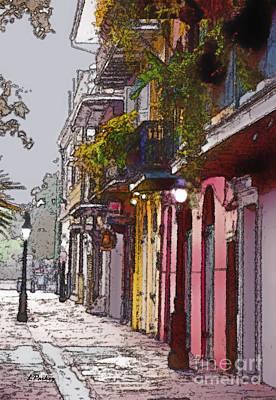 French Quarter New Orleans Art Print by Linda  Parker