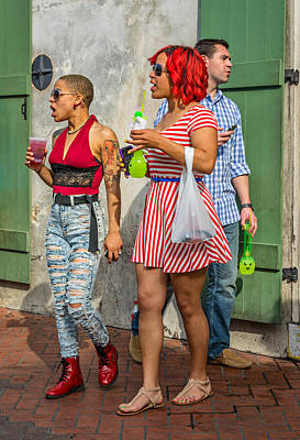 Nola Photograph - French Quarter - Party Time by Steve Harrington