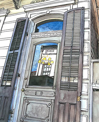 Voodoo Painting - French Quarter Reflection by John Boles
