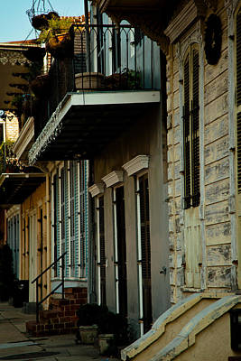 Typography Tees - French Quarter Row Houses by Susie Hoffpauir