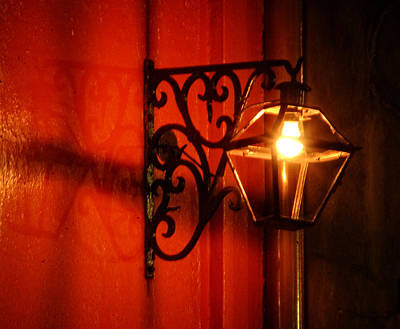 Orange Photograph - French Quarter Sconce by Greg Mimbs