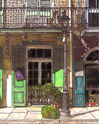 Garden District Painting - French Quarter Shop 369 by John Boles