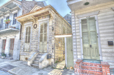 Photograph - French Quarter Shotgun by Bourbon  Street