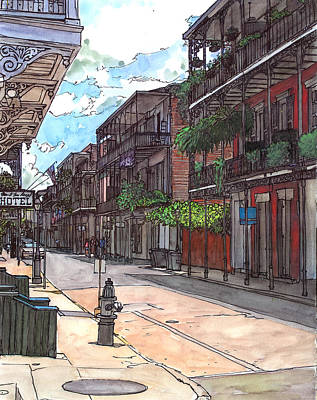 Garden District Painting - French Quarter Street 372 by John Boles
