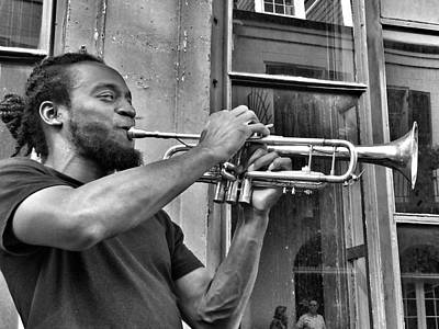 French Quarter Street Musician Art Print by Mike Barch
