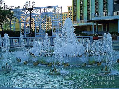 Photograph - French Quarter Water Fountain by Saundra Myles