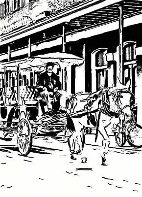 French Quarter Wheels 2 Art Print by Steve Harrington