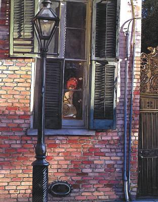 French Quarter Window 384 Art Print by John Boles