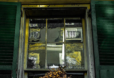 Photograph - French Quarter Window by Louis Maistros