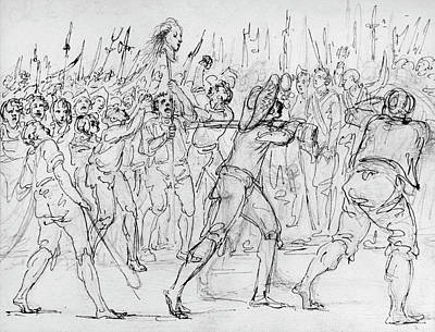Decapitation Drawing - French Revolution, 1795 by Granger