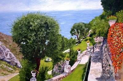 French Riviera Art Print by Graciela Castro