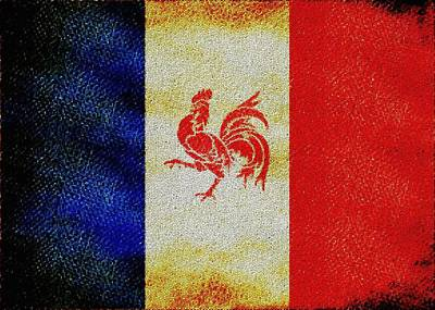 French Rooster Art Print by Jared Johnson