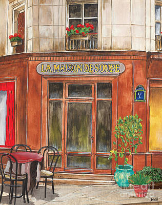 City Scape Painting - French Storefront 1 by Debbie DeWitt