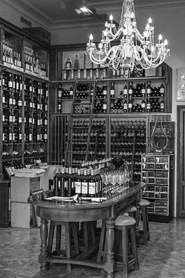 Vintage Wine Lovers Photograph - French Style Wine Store by Georgia Fowler