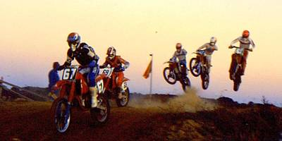Knobbly Photograph - French Supercross '88 by Guy Pettingell