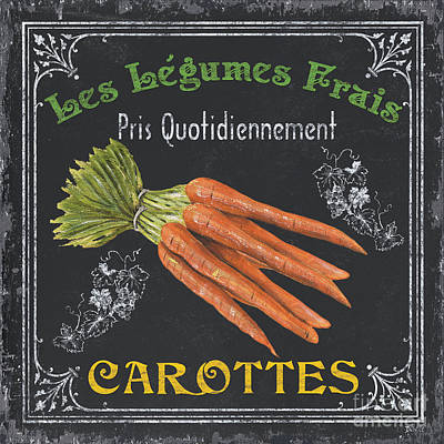 Text Painting - French Vegetables 4 by Debbie DeWitt