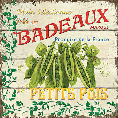 Graphic Design Painting - French Veggie Sign 1 by Debbie DeWitt