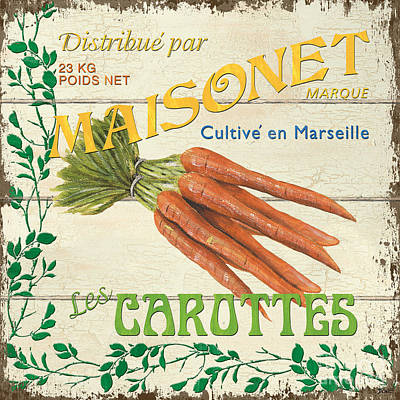 Graphic Design Painting - French Veggie Sign 2 by Debbie DeWitt