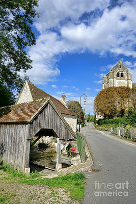 French Laundry Photograph - French Village Road by Olivier Le Queinec