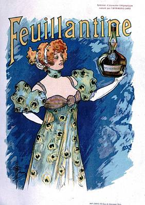 French Vintage Liquor Advert Art Print by Georgia Fowler