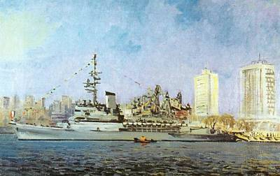 French Warship Jeanna Dark 1992 Art Print by Jake Hartz