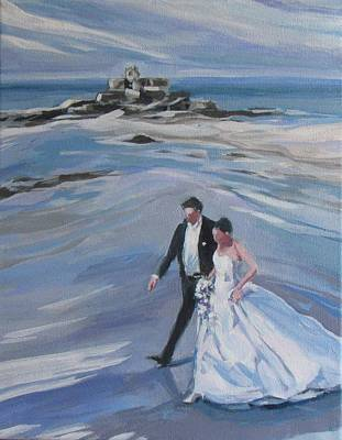 Stride Painting - French Wedding by Janis Commentz