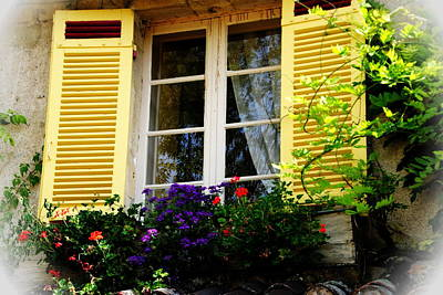 Art Print featuring the photograph French Window Dressing by Jacqueline M Lewis