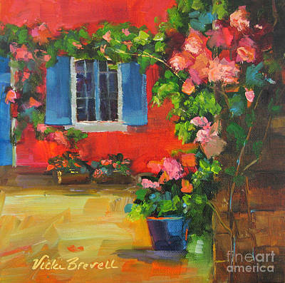 Painting - French Window by Vicki Brevell
