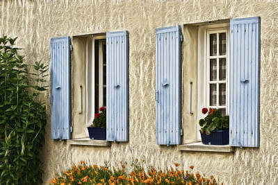 Photograph - French Windows W1556d by Wes and Dotty Weber