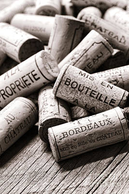 Stopper Photograph - French Wine Corks by Olivier Le Queinec