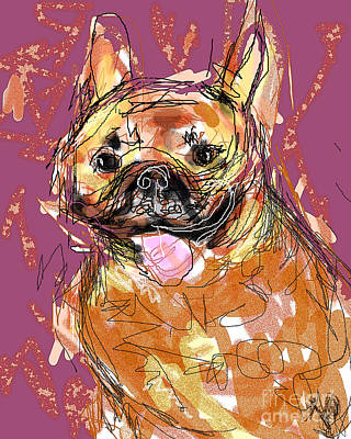 Digital Art - Frenchie by Joyce Goldin