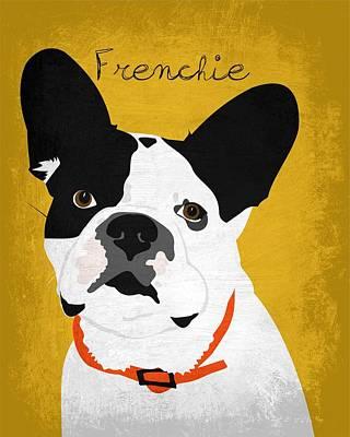 Bulldog Art Digital Art - Frenchie The French Bulldog by Ginger Oliphant