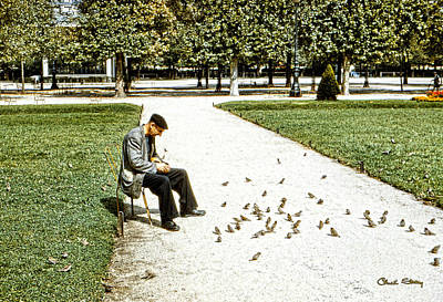 Photograph - Frenchman Feeding The Sparrows by Chuck Staley
