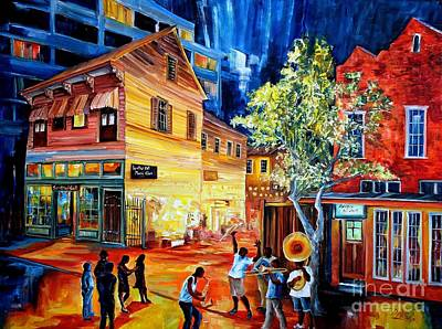 Neighborhoods Painting - Frenchmen Street Funk by Diane Millsap