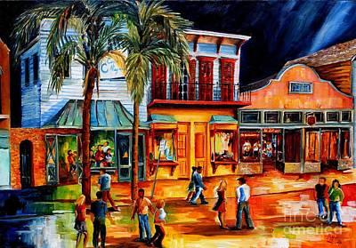 Night Club Painting - Frenchmen Street Night by Diane Millsap