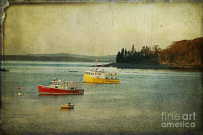 Frenchmen's Bay Fishing Boats Art Print