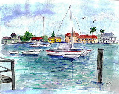 Painting - Frenchys Dock by Clara Sue Beym