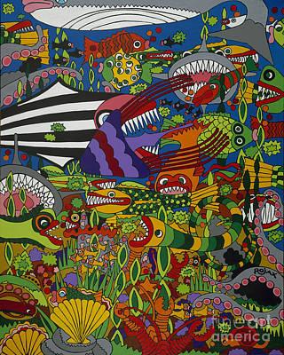 Frenzy Art Print by Rojax Art
