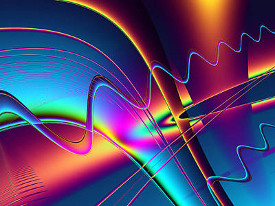 Digital Art - Frequency by Wendy J St Christopher
