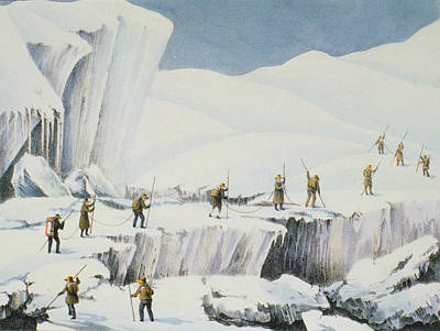 Alps Drawing - Frequent Appearance Of The Ice by English School