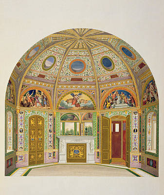 Fresco Decoration In The Summer House Art Print