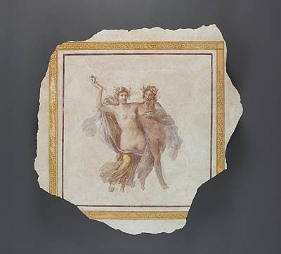 Fresco Panel Depicting Dionysos And Ariadne Unknown Italy Art Print