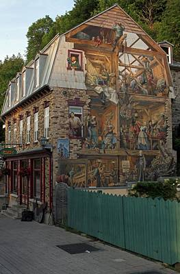 Photograph - Fresco Wall Art Painting In Quebec City by Juergen Roth