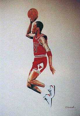 Athletes Drawings - Fresh Air 1984 by Lee McCormick