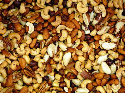 Photograph - Fresh Assorted Nuts by Jeff Lowe