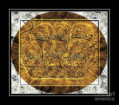 Brass Etching Digital Art - Fresh Baked Bread Loaves - Brass Etching by Barbara Griffin