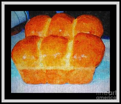 Fresh Baked Bread Three Bun Loaf Art Print by Barbara Griffin