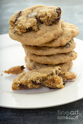 Tasty Photograph - Fresh Baked Chocolate Chip Cookies by Edward Fielding