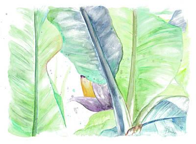Plantain Painting - Fresh Banana Plantain by Patricia Pinto