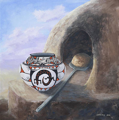 Hopi Painting - Fresh Bread by Jerry McElroy
